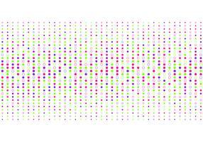 Style de demi-teinte motif points abstraits colorés sur fond blanc.