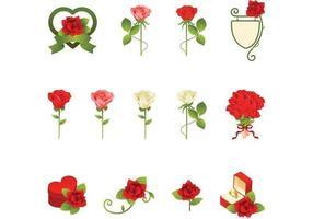 Pack de roses romantiques vecteur