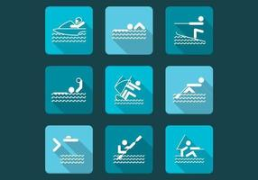 Pack d'icônes vecteur de sports nautiques