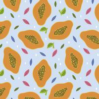 Fond de papayes vecteur