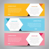 Bannière abstraite simple en trois couleurs