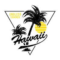 Hawaii conception sans fin de l'été vecteur