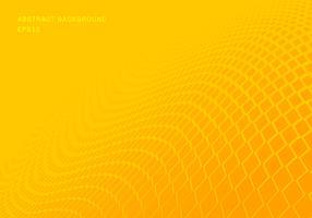 Carrés dégradé jaune abstraite vague modèle demi-teinte horizontale fond style pop art. Vous pouvez utiliser pour la présentation des éléments de conception, bannière Web, brochure, affiche, dépliant, dépliant, etc. vecteur