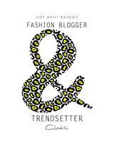 Blogueur de mode chic et tendance vecteur