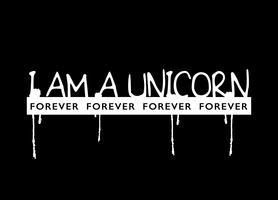 Je suis un texte de slogan de licorne vecteur