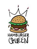 design hamburger queen vecteur