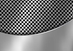 Abstrait en métal argenté fabriqué à partir de la texture de modèle à six pans creux avec tôle de fer courbe. Géométrique en noir et blanc.