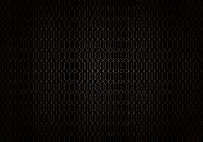 Motif de treillis sans soudure dégradé de lignes de vagues abstraites or sur style art déco de fond noir.