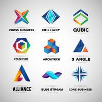 Modèle de collection de logo d'entreprise et de technologie vecteur
