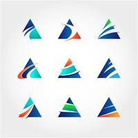 Collection de logo triangle