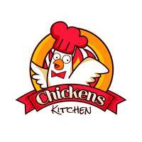 Logo de restaurant de poulet vecteur