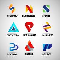 Logo coloré ensemble collection modèle signe symbole icône vecteur