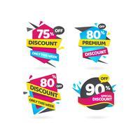 Remise spéciale Collection d'étiquettes de vente premium vecteur