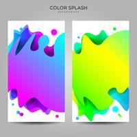 Modèle de fond de bannière de splash liquide coloré vecteur