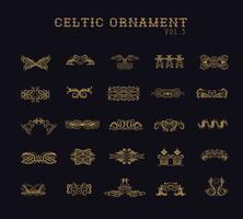 Ensemble de collection d'ornement celtique vecteur