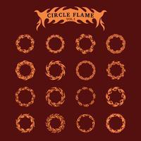 Ensemble de collection Circle Decorative Flame vecteur