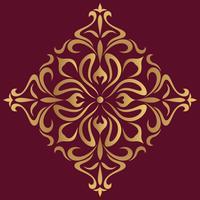 Fond de design ornemental de luxe en couleur dorée