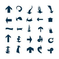 Illustration vectorielle des icônes de la flèche noire. vecteur