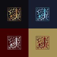 Logo décoratif lettre J vecteur