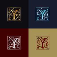 Logo décoratif lettre Y vecteur