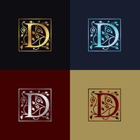 Lettre D Logo Décoratif vecteur