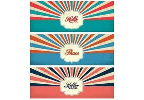 Vintage Sunburst Timeline Cover Vector Template Pack