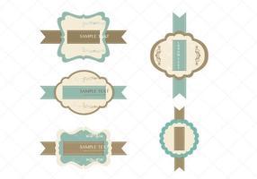 Pack de vecteur d'étiquette ruban Vintage