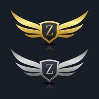 Logo de l'emblème de la lettre Z vecteur