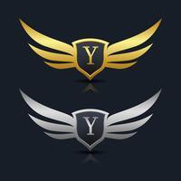Logo de l'emblème de la lettre Y vecteur