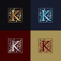 Lettre K Logo décoratif vecteur