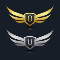 Lettre O emblème Logo vecteur