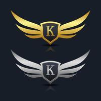 Lettre K emblème Logo vecteur