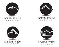 Modèle d'icônes logo et symboles de paysage nature montagne vecteur