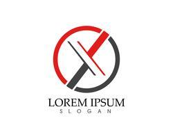 Modèle de lettre X Logo vector icon design ..