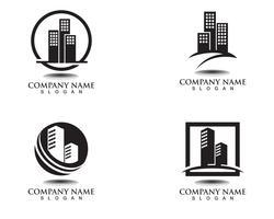 modèle de logos maison et maison vecteur