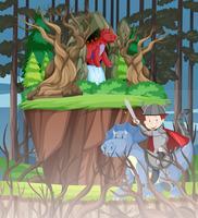 Dragon dans la forêt vecteur