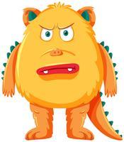 Un personnage de monstre jaune vecteur