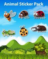 Ensemble d'autocollant insecte