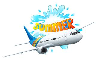 Une aventure en avion pour l'été vecteur