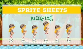 Modèle de saut de feuilles de Sprite