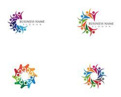 Adoption et soins communautaires Icônes vectorielles Logo modèle vecteur