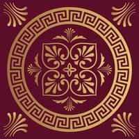 Fond de design ornemental de luxe en couleur dorée vecteur