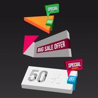Éléments 3d de Big Sales Concepts