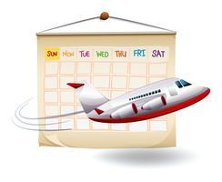 Un voyage de vacances prévu vecteur