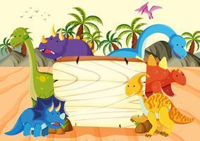 Un modèle de planche de bois de dinosaure