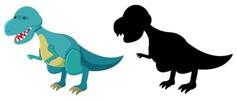Ensemble de personnage de dinosaure vecteur