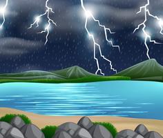 Une tempête nature scène vecteur