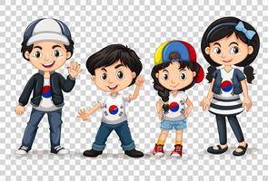 Garçons et filles de Corée du Sud vecteur