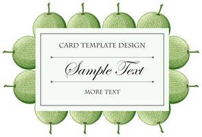 Modèle de carte avec fond de fruits de cantaloup