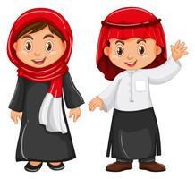 Garçon et fille en tenue d'irag vecteur